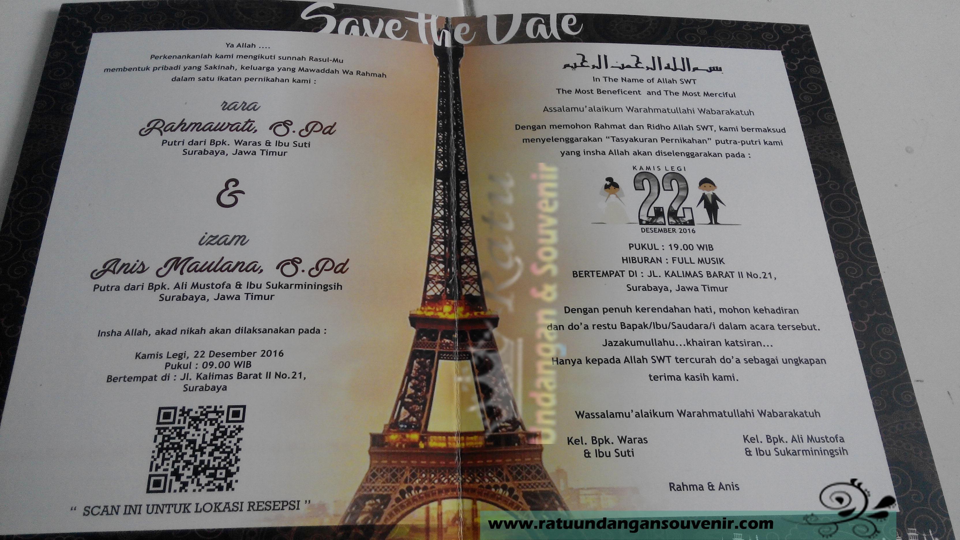 Undangan Pernikahan Konsep Barcode Ratu Undangan