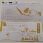 Undangan Boarding Pas, Undangan Boarding Tiket Pesawat