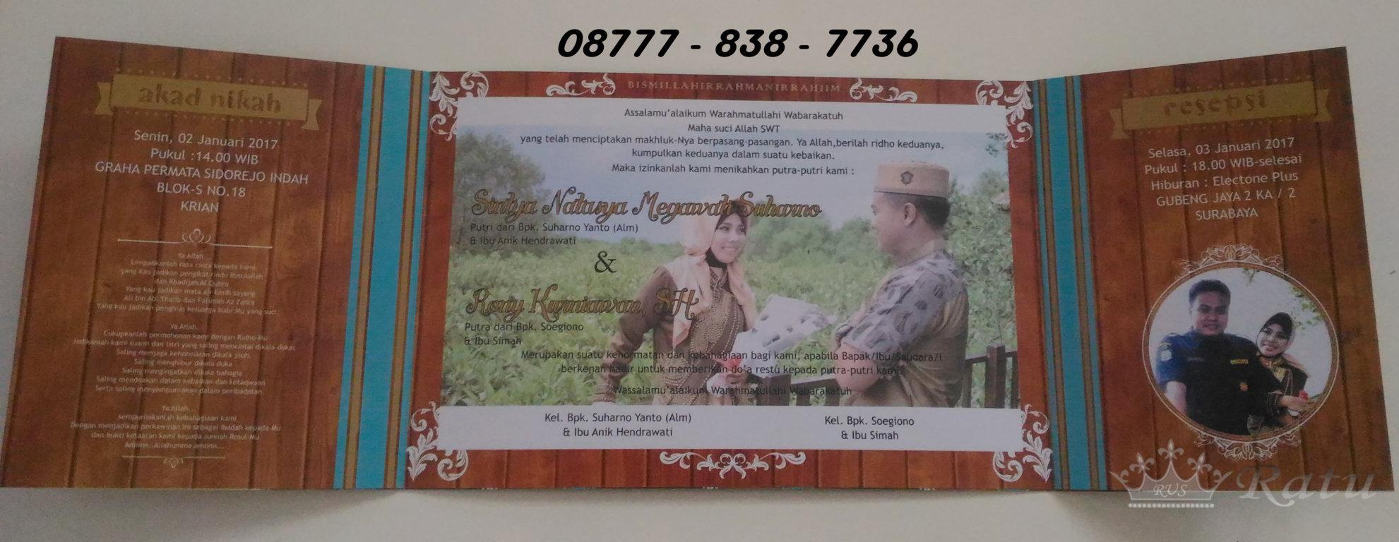 Undangan Pernikahan 3 Sisi Surabaya Ratu Souvenir Hp  Jakarta A 02
