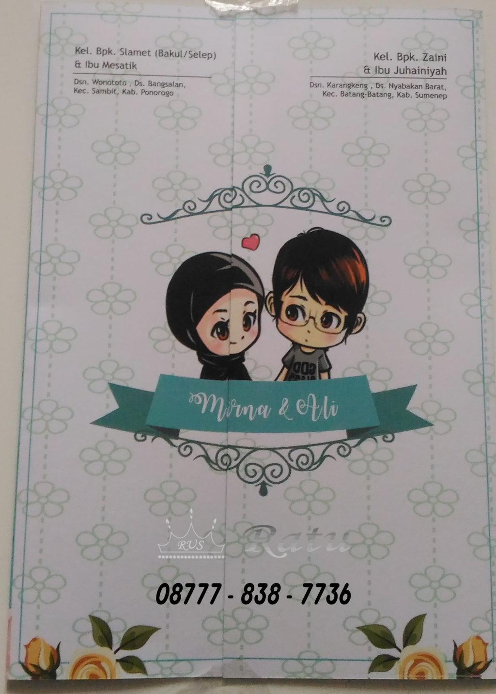 Undangan Karikatur Pernikahan , Desain Karikatur pernikahan  RATU UNDANGAN \u0026 SOUVENIR HP