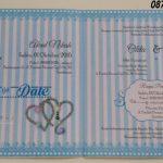 Undangan Pernikahan 2 Sisi Desain Terbaru