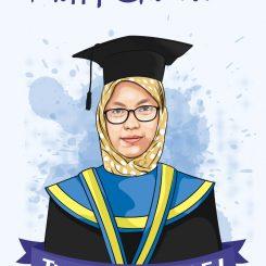 Hadiah Wisuda Karikatur Wisuda Surabaya Sidoarjo Ratu Undangan