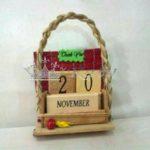 Souvenir Kalender Kayu Unik, Abadi 1-9 Nomer