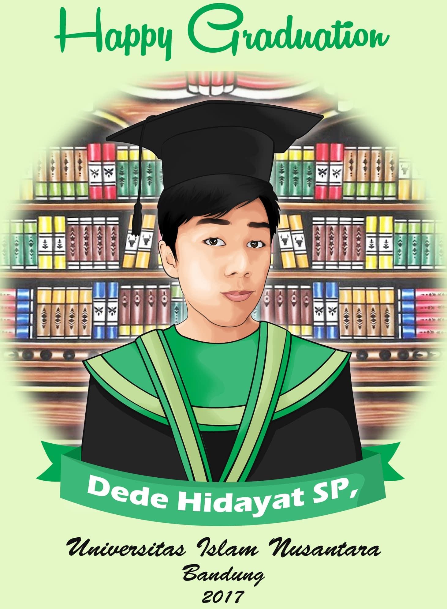 Karikatur Wisuda Surabaya Jasa Desain Karikatur RATU UNDANGAN