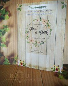 Undangan Pernikahan Softcover Murah, Vintage Wedding Invitation