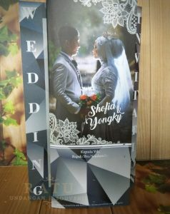 Undangan Pernikahan 3 Sisi , Laminasi Doff