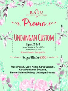 Promo Undangan Custom Termurah, Khusus Bulan September