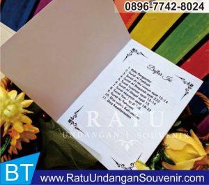 souvenir buku 4 dan 7 bulanan di Makassar